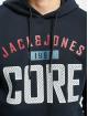 Jack & Jones Bluzy z kapturem jcoCarving niebieski