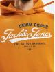 Jack & Jones Bluzy z kapturem jjeLogo pomaranczowy