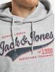 Jack & Jones Bluzy z kapturem Jjelogo szary