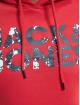 Jack & Jones Hoodie 12177936 röd
