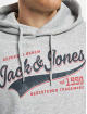Jack & Jones Hoodies Jjelogo šedá