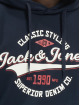 Jack & Jones Mikiny Jjelogo modrá