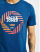 Jack & Jones T-Shirt jcoFriday-Disc blue