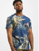 Jack & Jones T-Shirt jorEli Organic AOP Crew Neck blue
