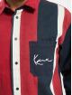 Karl Kani Hemd Kk Small Signature Block Stripe blau