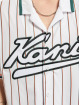 Karl Kani Hemd Varsity Block Pinestripe Baseball weiß