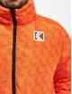 Karl Kani Kurtki pikowane Retro Reversible pomaranczowy