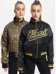 Karl Kani Lightweight Jacket Varsity Reversible Leo Satin black
