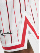 Karl Kani Short Small Signature Pinstripe Mesh blanc