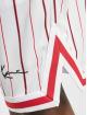 Karl Kani Shorts Small Signature Pinstripe Mesh weiß