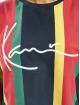 Karl Kani t-shirt Signature Stripe blauw