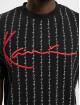Karl Kani T-Shirt Signature Logo Pinstripe noir
