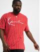 Karl Kani T-Shirt Signature Logo Pinstripe rot