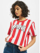Karl Kani T-Shirt College Stripe white