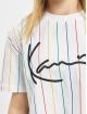 Karl Kani T-Shirt Signature Pinstripe white