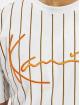 Karl Kani T-skjorter Kk Signature Pinstripe hvit