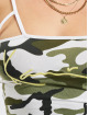 Karl Kani Tops Kk Signature Camo Cropped zielony