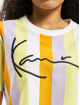 Karl Kani Trika Kk Signature Stripe Crop Wide bílý