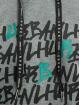 Les Hommes Hoodie Kaligrafi grå