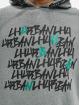 Les Hommes Hoodies Kaligrafi šedá