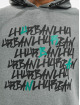 Les Hommes Hoody Kaligrafi grau