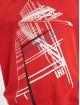 Les Hommes Sweat capuche Graphic City rouge