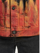 Marcelo Burlon Denim Jacket Bleach Flame Pleat black