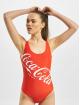 Merchcode Badedragter Ladies Coca Cola Logo rød
