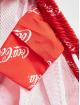Merchcode Kúpacie šortky Coca Cola Logo All Over Print èervená