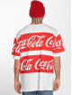 Merchcode T-Shirt Coca Cola Stripe Oversized white