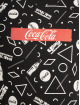 Merchcode t-shirt Coca Cola Aop Box Logo zwart