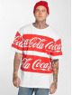 Merchcode T-Shirty Coca Cola Stripe Oversized bialy
