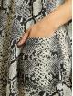 Missguided Šaty Button Thru Smock Snake šedá