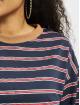 Missguided Šaty Oversized Longsleeve T-Shirt Stripes modrá