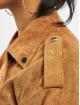 Missguided Кожаная куртка Suedette Boyfriend Biker коричневый