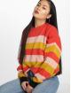 Missguided Пуловер Colourblock Stripe красный