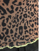 Missguided Футболка Contrast Binding Leopard Print Mesh коричневый
