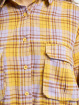 Missguided Abito Oversized Shirt Check giallo