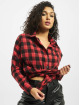 Missguided Camisa Oversized Brushed Check rojo