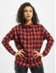 Missguided Chemise Oversized Brushed Check rouge