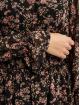 Missguided Dress High Neck Shirred Waist Floral black