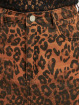 Missguided Falda Leopard Print Denim Mini Co Ord marrón