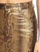 Missguided Falda Metallic Snake Coated Denim oro