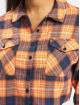 Missguided Hemd Petite Oversized Crop Check orange