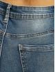 Missguided Jean taille haute Sinner Knee Distress bleu