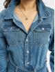 Missguided Jumpsuits Boiler Button Through Denim niebieski