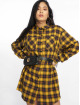 Missguided jurk Oversized Check geel 0
