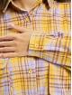 Missguided jurk Oversized Shirt Check geel