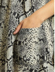 Missguided jurk Button Thru Smock Snake grijs