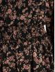 Missguided jurk High Neck Shirred Waist Floral zwart